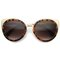 Ashura cat eye sunglasses in tortoise amber at flyjane