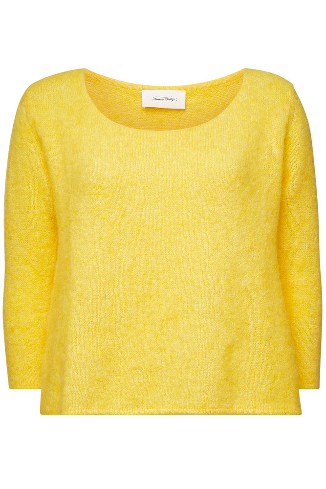 American Vintage Pullover with Alpaca and Merino Wool  in yellow