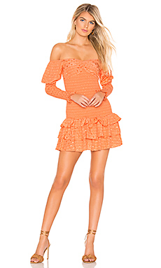 Tularosa Poppy Dress in Pale Peach from Revolve.com