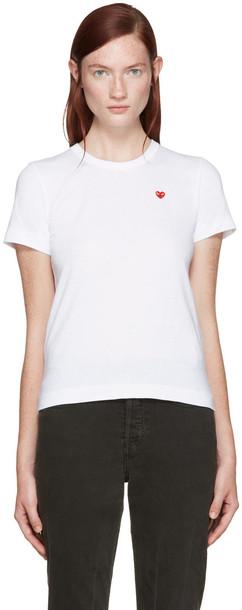 Comme Des Garçons Play White Small Heart Patch T-shirt