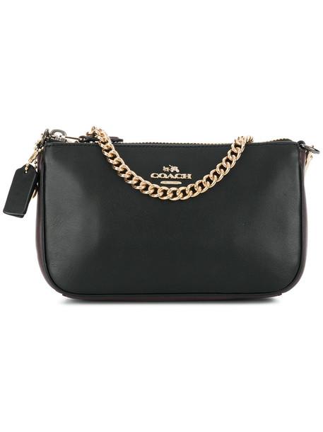 coach women bag clutch leather black