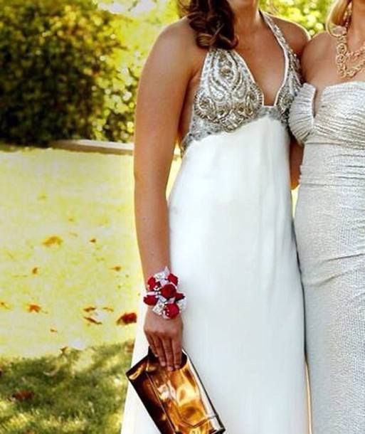 dress white dress prom dress gold dress