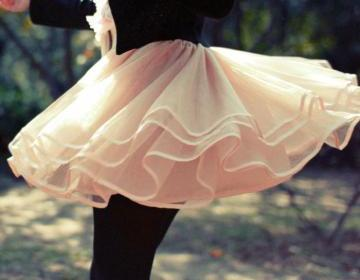 Lovely tulle short skirt, light pin..