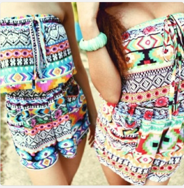 dress romper aztec brazil jewels