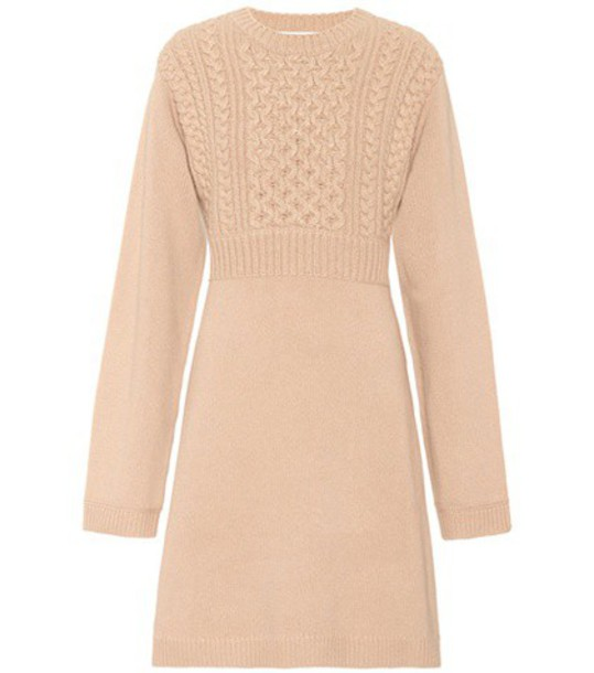 Chloe dress wool beige