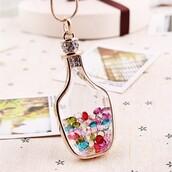 jewels,wine bottle pendant necklace,gold plated pendant necklace,pendant