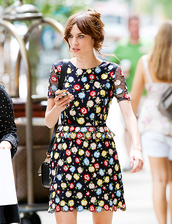 dress,alexa chung,floral dress,flowers,celebrity,floral