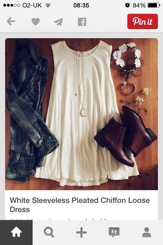 dress white cotton swing dress white dress swing dresses shirt gloves