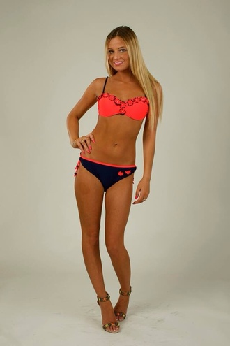 swimwear bikini swimsuit summer swim beautiful red navy holidays gorgeous shop push-up