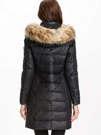 fur hood down jacket fall jacket
