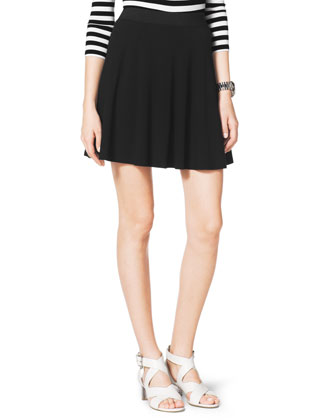MICHAEL Michael Kors  Flared Pull-On Skirt - Neiman Marcus