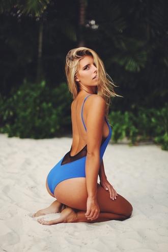 swimwear natasha oakley one piece swimsuit blue swimwear