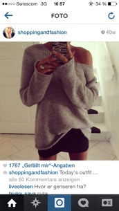 sweater,colour grey cozy sweater chilly beautiful fashion vogue