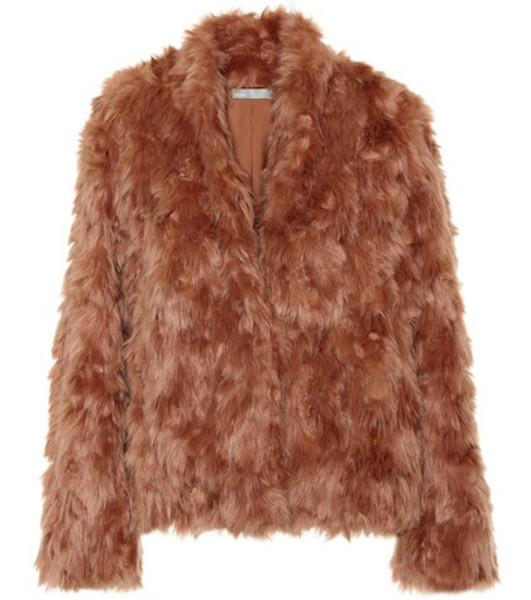 Vince Faux fur jacket in pink