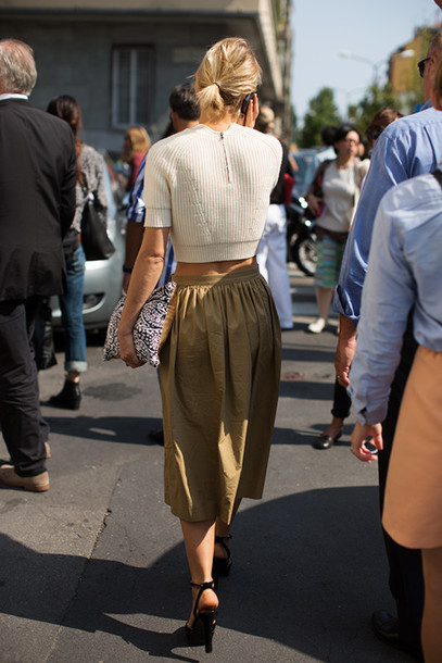 top, all grey outfit, all grey everything, pencil skirt