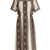 Sonia striped-paisley print silk dress