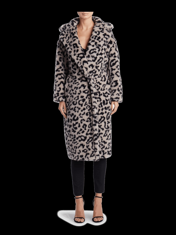 Edy Oversized Leopard Coat