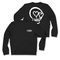 5sos: white skull black sweatshirt