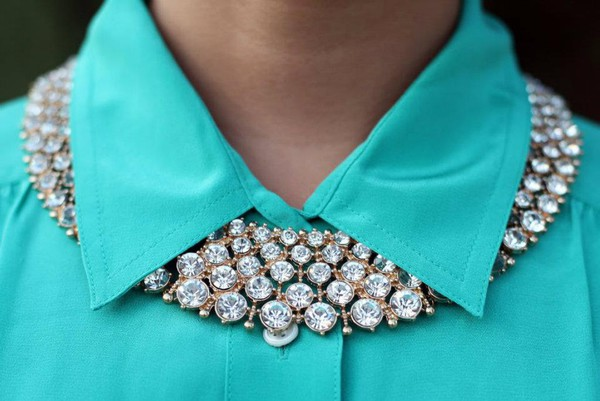 jewels necklace blouse