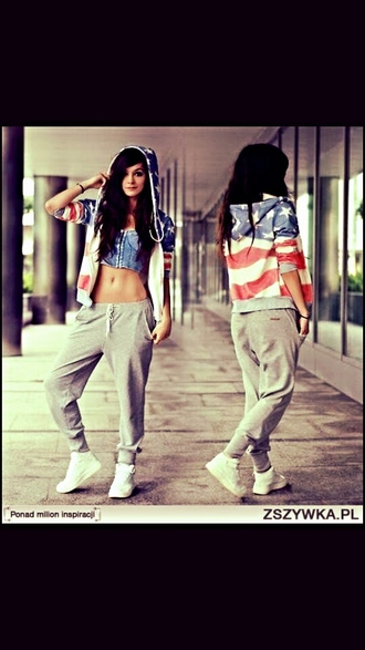 pants baggy pants swag top streetstyle usa leggings jacket tank top