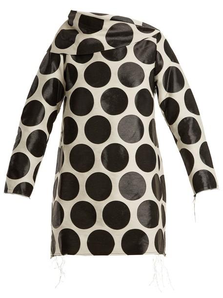 MARQUES ALMEIDA dress jacquard white black