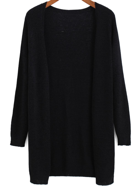 Long Sleeve Loose Knit Cardigan -SheIn(Sheinside)