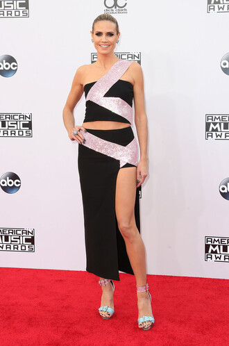 american music awards skirt top gown prom dress heidi klum