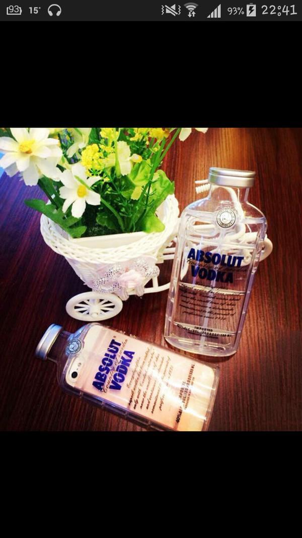 phone cover coque vodka bottle