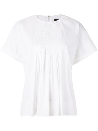 t-shirt shirt women spandex white cotton top