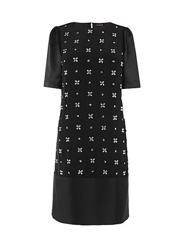 dress jaeger embellished front dress black dress