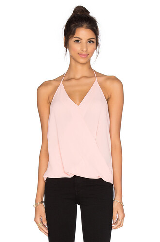top halter top peach