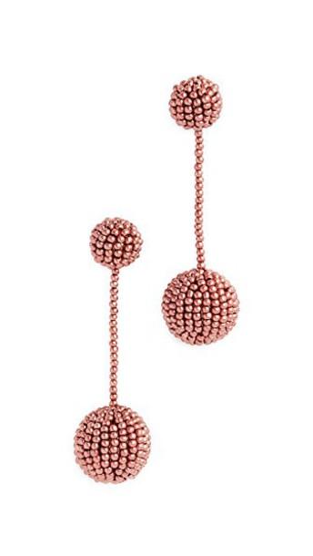 Madewell beaded earrings dark jewels