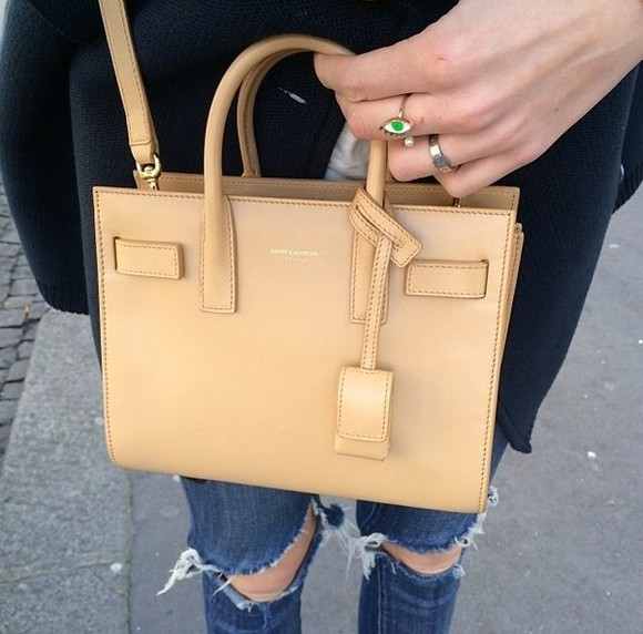 beige bag bag yves saint laurent