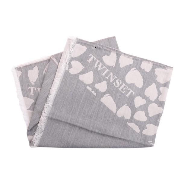 Twin-Set scarf cream grey