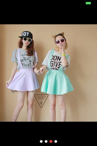 skirt goth purple green cute pastel