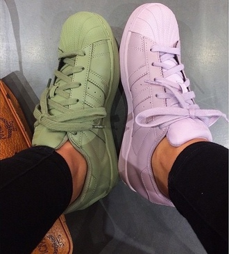 shoes adidas adidas supercolor sneakers new fashion cute style stylish green purple sexy adidas superstars purple shoes pharrell williams adidas pharell williams sexy shoes