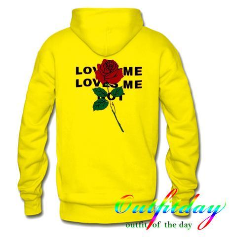 Loves Me Loves Me Not hoodie Back