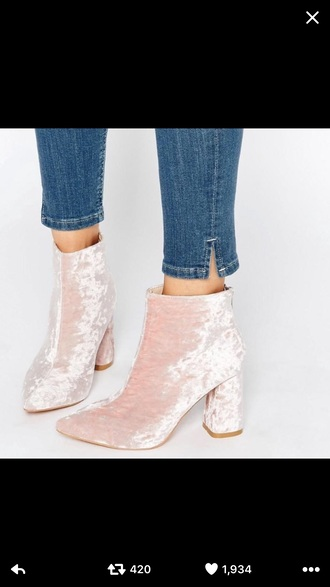 shoes suede suede boots pink