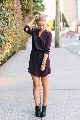 dress burgundy silk dress
