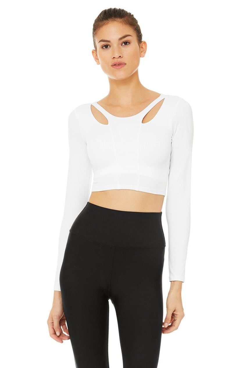 Arch Long Sleeve Top - White