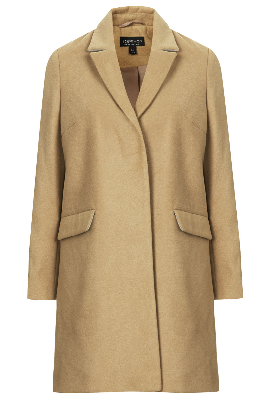 Slim pocket detail coat