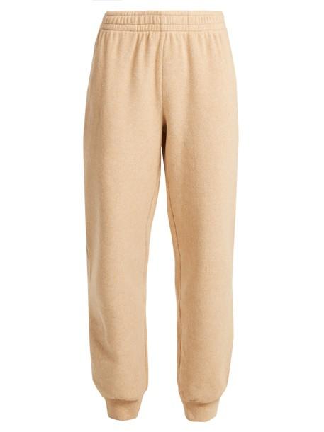 pants track pants cotton camel