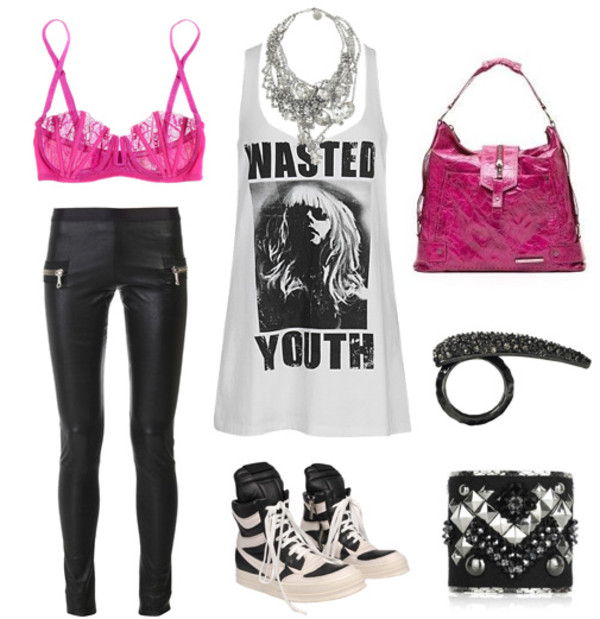 shirt skinny jeans tank top bracelets ring pink pink bra bag shoes sneakers necklace sparkle jewelry studs black white black and white underwear