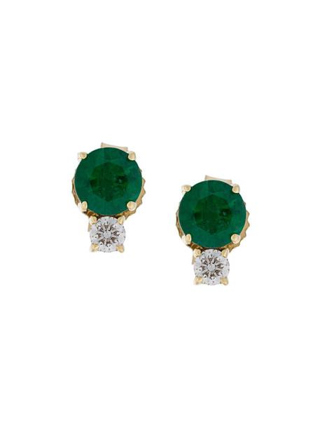 Jemma Wynne women earrings stud earrings gold green yellow jewels