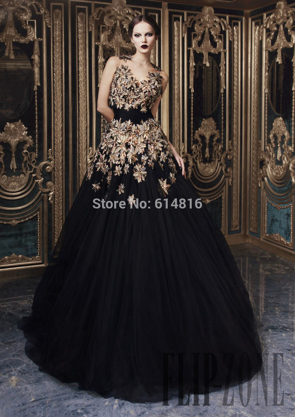 black prom dress evening dress rami kadi dress haute couture