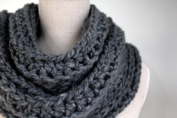 grey infinity scarfgrey winter scarfgrey eternity by karliboutique