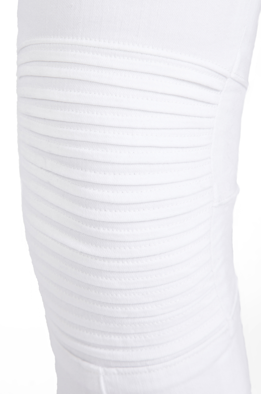 Hudson Jeans Stark Moto Pant in White | REVOLVE