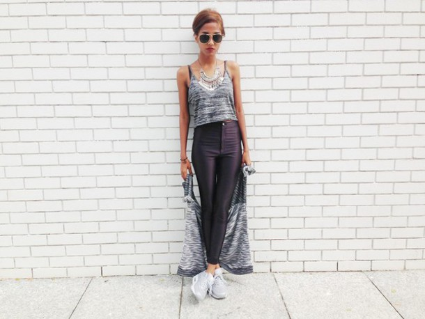jewels necklace jersey pants top