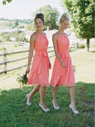 dress coral bridesmaid dresses bridesmaid
