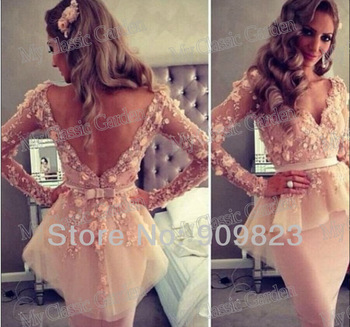 Aliexpress.com : Buy Myriam Fares Friend Bateau Neck V Neck Long Sleeves See Through Lace Beaded Mermaid Lace Celebrity Evening Dresses Gowns from Reliable dress twill suppliers on my classic garden
